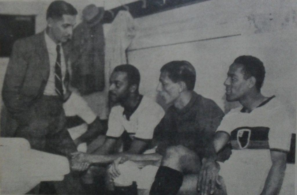 Flávio Costa, Nilton, Yustrich e Domingos